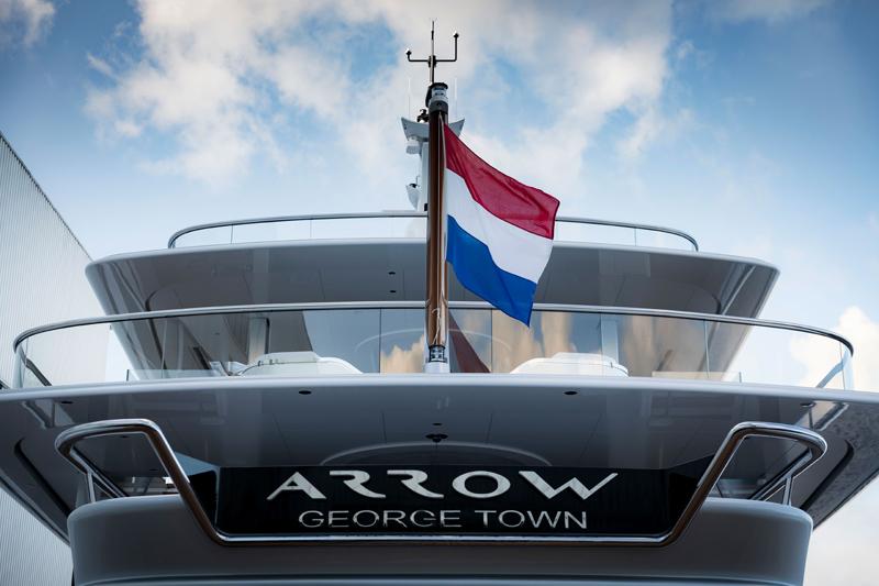 Новейшую яхту Feadship назвали Arrow