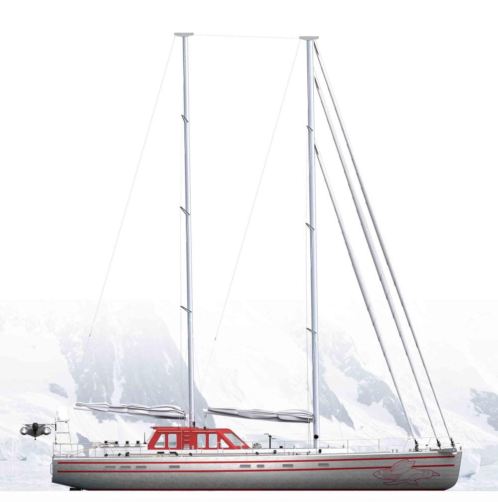 Новые изображения экспедиционного парусника Pelagic 77
