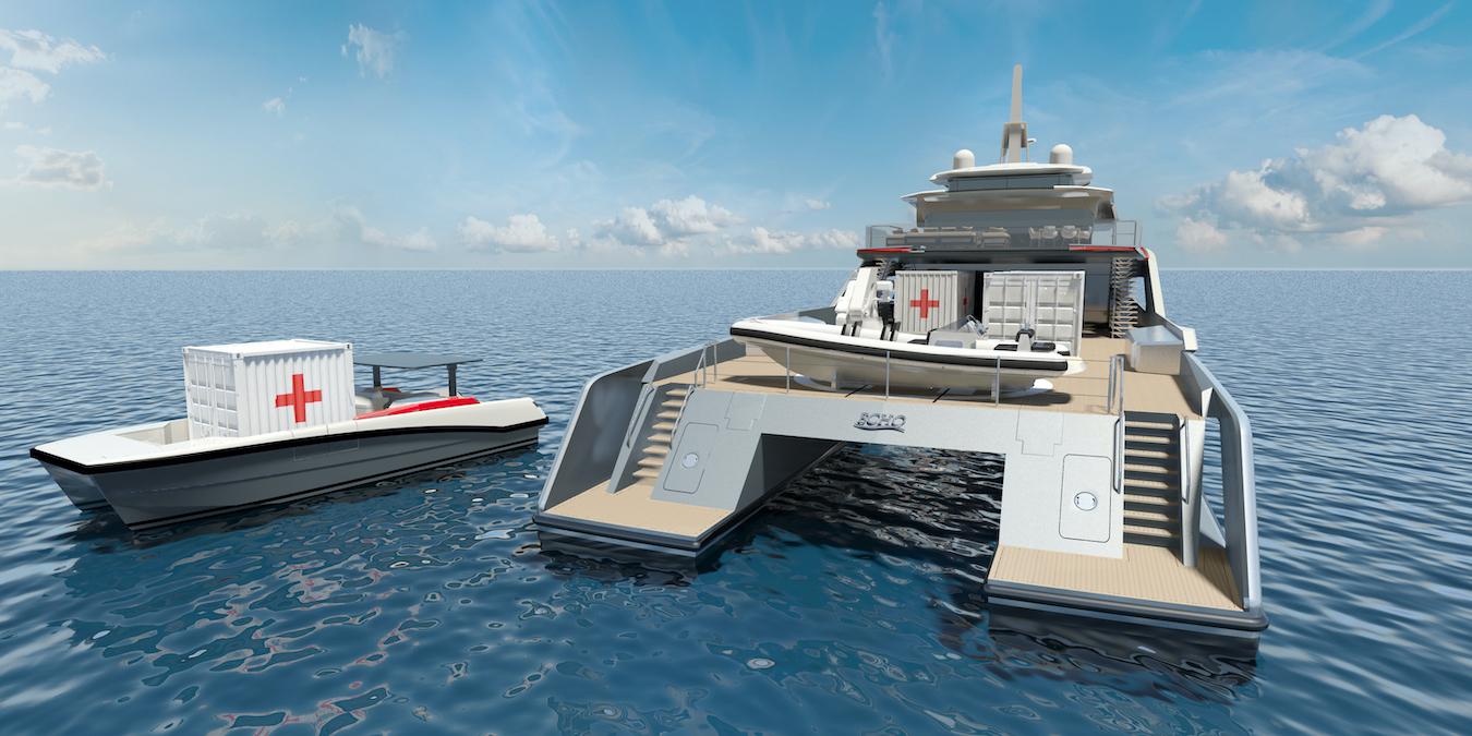 Представлен концепт нового катамарана Echo Yachts
