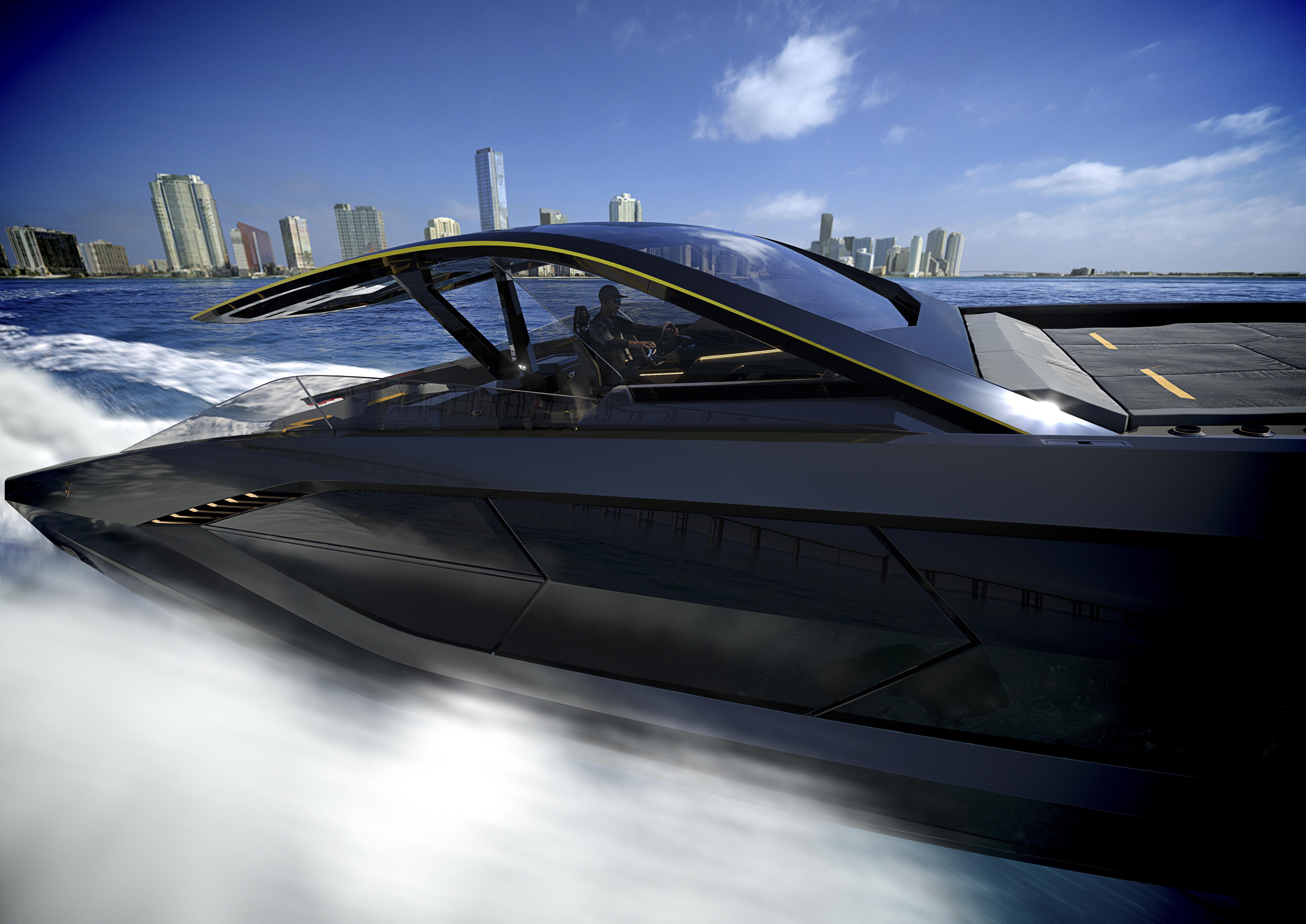 Представлен проект яхты Lamborghini