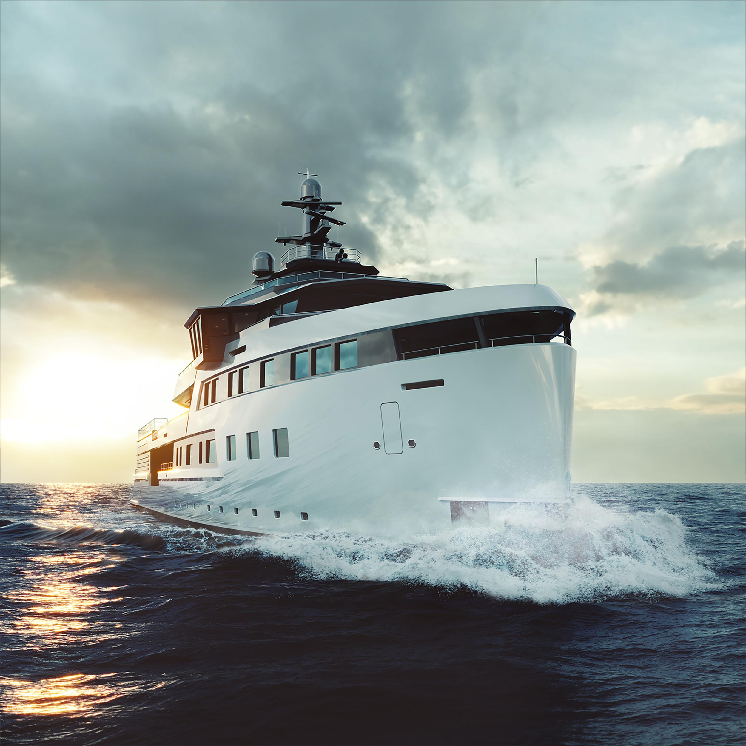 Продан 72-метровый проект Damen Yachting