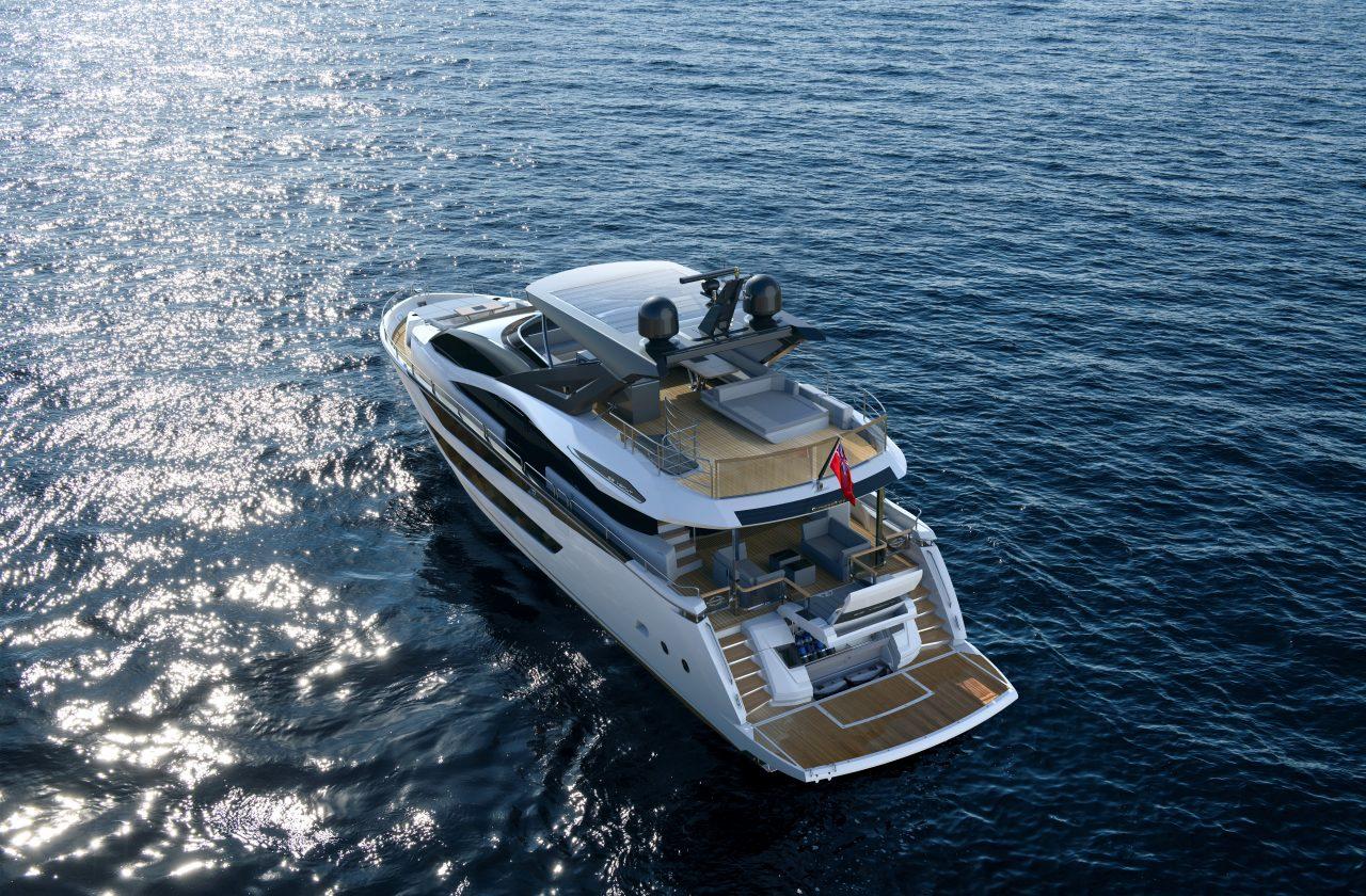 Первые изображения интерьера Sunseeker 88 Yacht